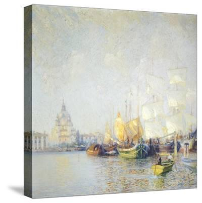 Glimpse of Venice--Stretched Canvas Print