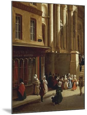 Paris Church of Saint-Roch in 1840-Moreno Gonzales-Mounted Giclee Print