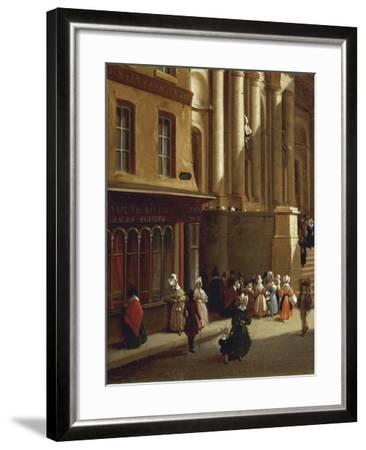 Paris Church of Saint-Roch in 1840-Moreno Gonzales-Framed Giclee Print
