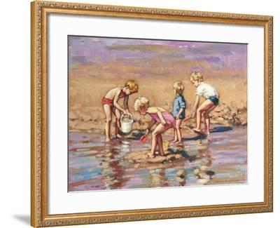 Collecting Shells-Paul Gribble-Framed Giclee Print