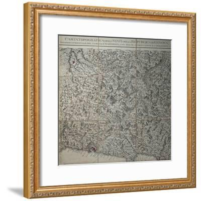 Detail of Map of Republic of Genoa, Genoa, Copperplate, 1784-Joseph Etienne Blezzy-Framed Giclee Print