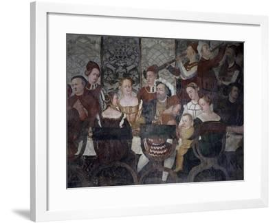 Banquet Offered by Bartolomeo Colleoni to Christian of Denmark, 16th Century-Marco Cardisco-Framed Giclee Print