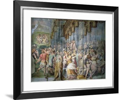 Dance Scene with Kiss, Circa 1570-Jacopo Cambi-Framed Giclee Print