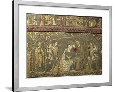 Frontal Depicting the Coronation of the Virgin Between Eight Angels and Fourteen Saints, 1366-Jacopo Ligozzi-Framed Giclee Print