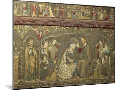 Frontal Depicting the Coronation of the Virgin Between Eight Angels and Fourteen Saints, 1366-Jacopo Ligozzi-Mounted Giclee Print