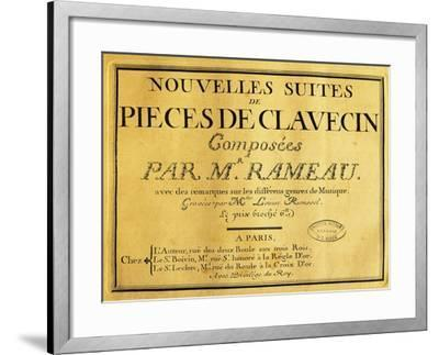 Italy, Venice, Frontispiece of Collection of Pieces for Harpsichord-Jehan Previn-Framed Giclee Print