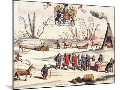 Reindeer Shepherds, Lapland-Joan Blaeu-Mounted Giclee Print