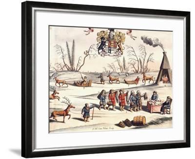 Reindeer Shepherds, Lapland-Joan Blaeu-Framed Giclee Print