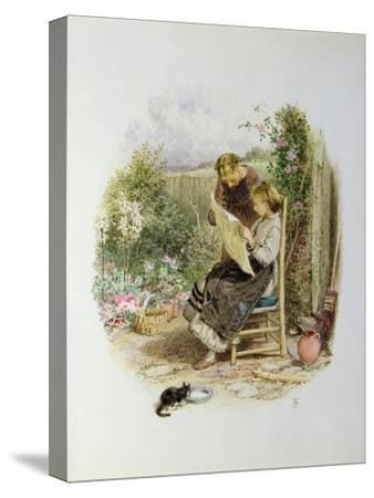 Morning News-Myles Birket Foster-Stretched Canvas Print
