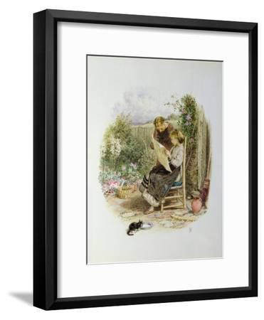 Morning News-Myles Birket Foster-Framed Giclee Print