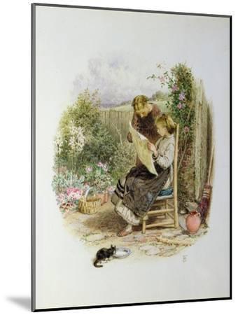 Morning News-Myles Birket Foster-Mounted Giclee Print