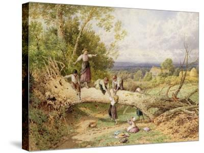 Playtime-Myles Birket Foster-Stretched Canvas Print