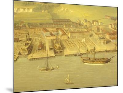 The Royal Dockyard at Woolwich, Near London, 1790-Nicholas Pocock-Mounted Giclee Print