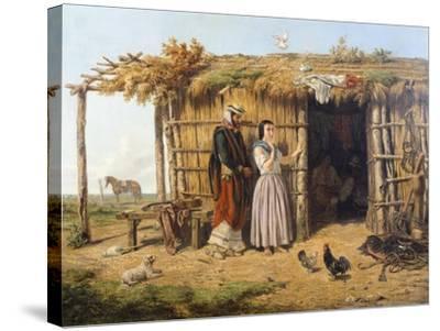 Pampa Dwelling, 1861, Argentina-Juan Lepiani-Stretched Canvas Print