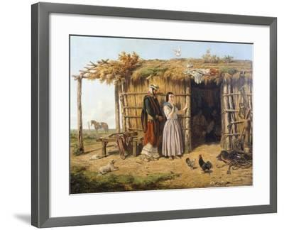 Pampa Dwelling, 1861, Argentina-Juan Lepiani-Framed Giclee Print