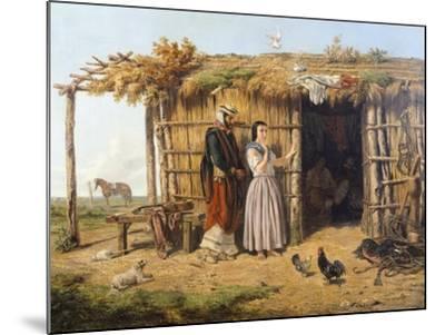 Pampa Dwelling, 1861, Argentina-Juan Lepiani-Mounted Giclee Print
