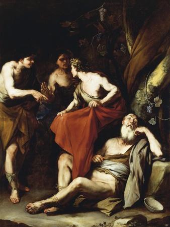 The Drunkenness of Noah-Luca Giordano-Framed Giclee Print