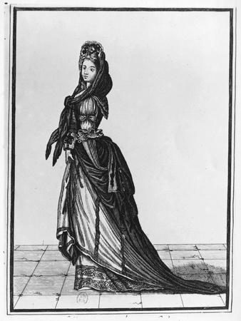 Woman with Shawl or Fichu, 1688-Nicolas De Lespinasse-Framed Giclee Print