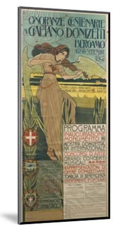Italy, Bergamo, Poster Commemorating 100th Anniversary of Birth of Composer Gaetano Donizetti--Mounted Giclee Print