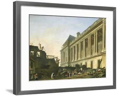 The Clearing of the Louvre Colonnade in Paris, 1764-Pierre-Auguste Renoir-Framed Giclee Print
