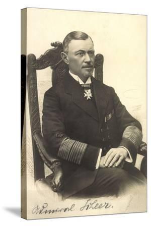 Foto Admiral Reinhard Scheer, Skagerrschlacht--Stretched Canvas Print