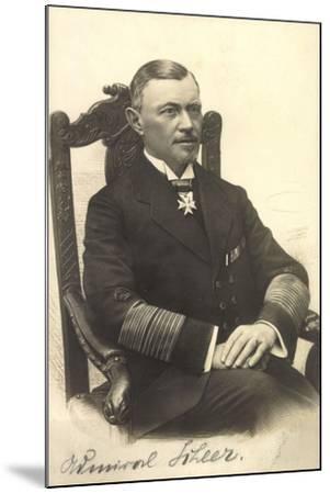 Foto Admiral Reinhard Scheer, Skagerrschlacht--Mounted Giclee Print