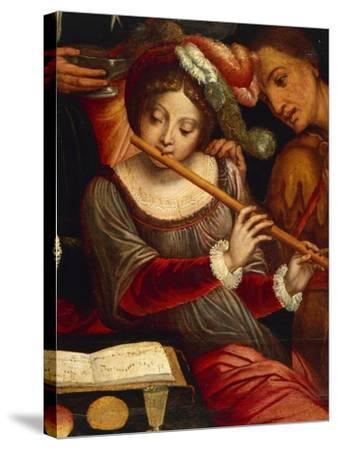 Musicians-Pieter Coecke Van Aelst the Elder-Stretched Canvas Print