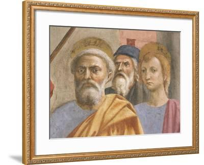 Saint Peter's Face, Detail from Saint Peter Healing the Sick-Tommaso Masaccio-Framed Giclee Print