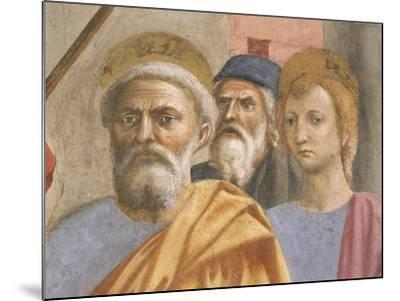 Saint Peter's Face, Detail from Saint Peter Healing the Sick-Tommaso Masaccio-Mounted Giclee Print