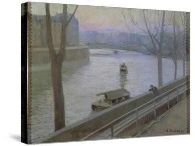 France, Paris, Ile Saint-Louis-Scipione Pulzone-Stretched Canvas Print