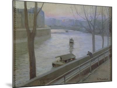 France, Paris, Ile Saint-Louis-Scipione Pulzone-Mounted Giclee Print