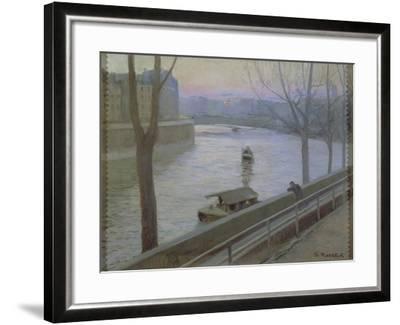 France, Paris, Ile Saint-Louis-Scipione Pulzone-Framed Giclee Print