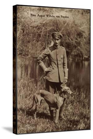Prinz August Wilhelm Von Preußen, Uniform, Windhund--Stretched Canvas Print