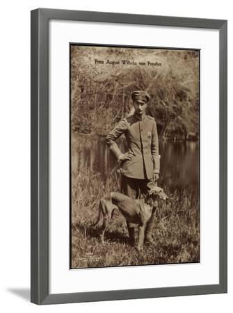Prinz August Wilhelm Von Preußen, Uniform, Windhund--Framed Giclee Print