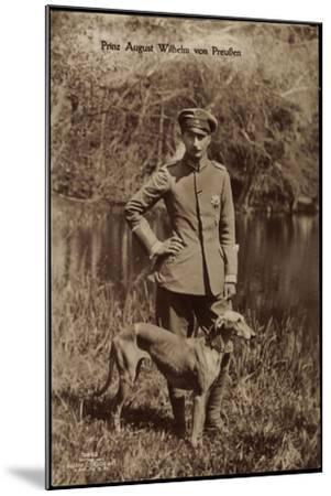 Prinz August Wilhelm Von Preußen, Uniform, Windhund--Mounted Giclee Print