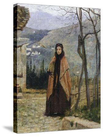 The Visit, Detail-Silvestro Lega-Stretched Canvas Print