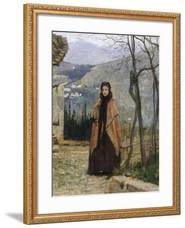 The Visit, Detail-Silvestro Lega-Framed Giclee Print