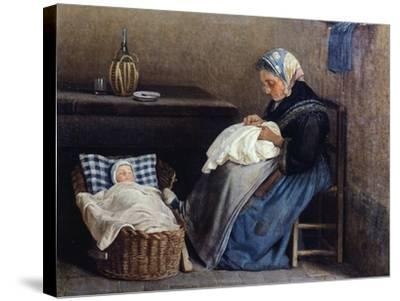 The Grandmother, 1865-Silvestro Lega-Stretched Canvas Print