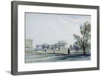 Entrance to Hyde Park at Hyde Park Corner-William Clark-Framed Giclee Print