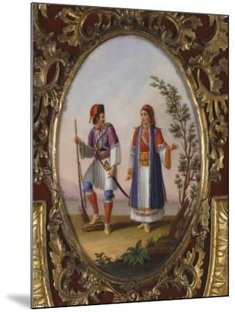 Medallion with Scene Depicting Traditional Dress from Campania, Italy-Raimondo Compagnini-Mounted Giclee Print