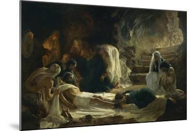 Burial of Jesus Christ, 1895-Vilmos Zsolnay-Mounted Giclee Print