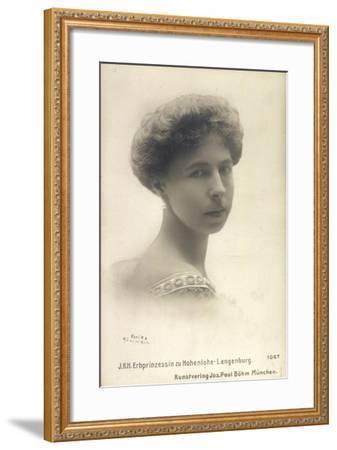 Alexandra Von Sachsen Coburg Und Gotha, Hohenlohe--Framed Giclee Print