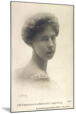 Alexandra Von Sachsen Coburg Und Gotha, Hohenlohe--Mounted Giclee Print