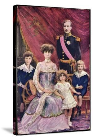 Königin Elisabeth Von Belgien, König Albert I--Stretched Canvas Print