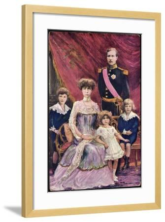 Königin Elisabeth Von Belgien, König Albert I--Framed Giclee Print