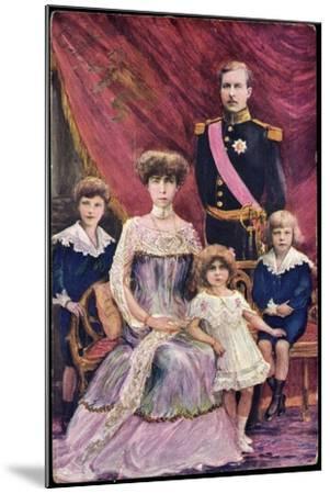 Königin Elisabeth Von Belgien, König Albert I--Mounted Giclee Print