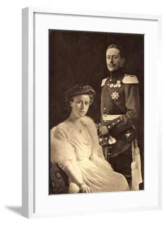Großherzog Wilhelm Ernst, Großherzogin Feodora--Framed Giclee Print