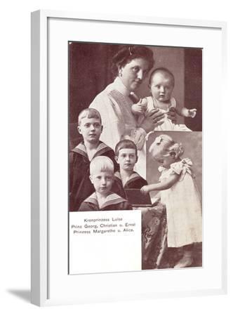 Kronprinzessin Luise, Prinz Georg,Christian,Ernst--Framed Giclee Print