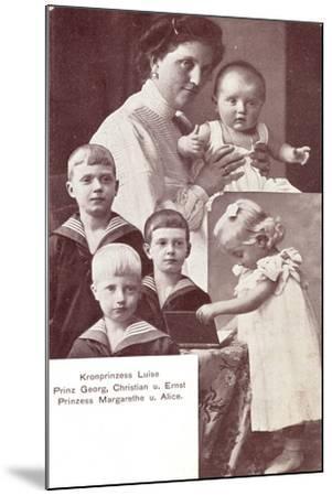 Kronprinzessin Luise, Prinz Georg,Christian,Ernst--Mounted Giclee Print