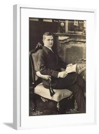 Prinz Friedrich Christian Von Sachsen Mit Buch--Framed Giclee Print